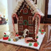 Decorated Two Story Gingerbread House