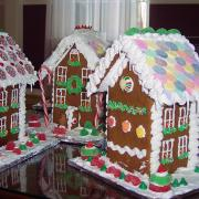 A Variety of Two Story Gingerbread Houses