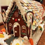Large Gingerbread House with a Necco Roof