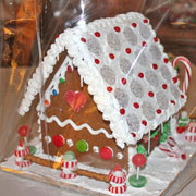 Large Decorated Gingerbread House - side and back
