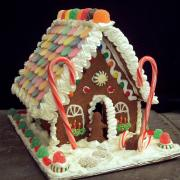 Large House with Necco Roof, Gumbdrop Ridge, and Sled in Front
