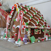 Large Gingerbread House Kit - Decorated in Front and Wrapped Behind