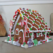 Large Gingerbread House Decorated with the Kit Candy
