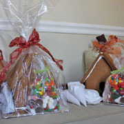 Large Gingerbread House Kit - Wrapped and Contents